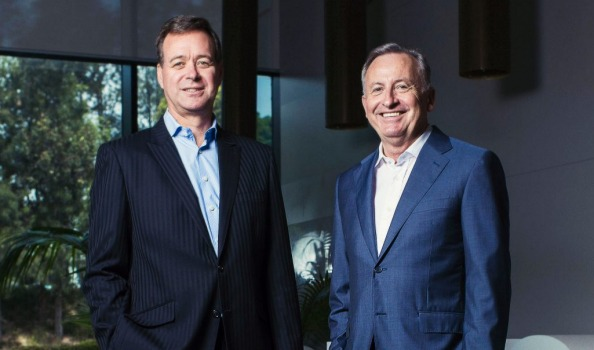 Aristocrat pokies CEO's Croker and Odell