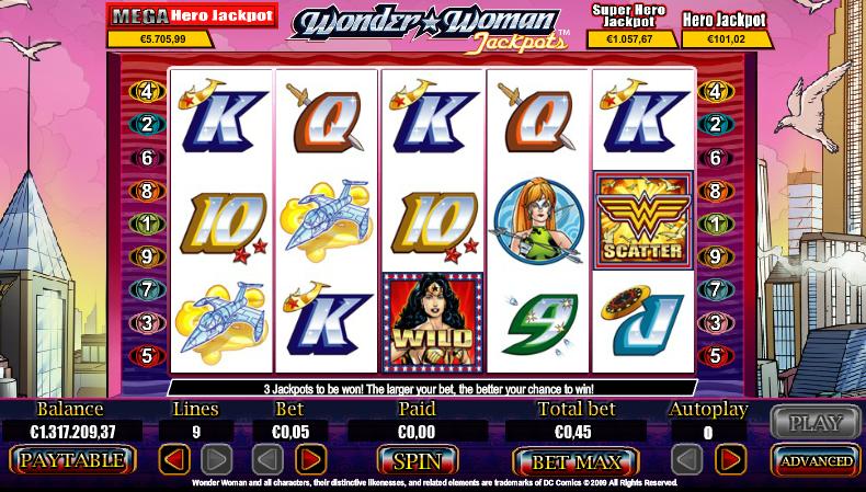 Wonder Woman Jackpots online pokies by amaya