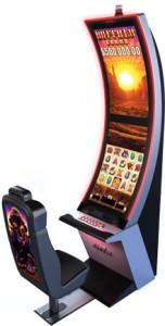 Arc Double slot machine cabinet by Aristocrat Leisure