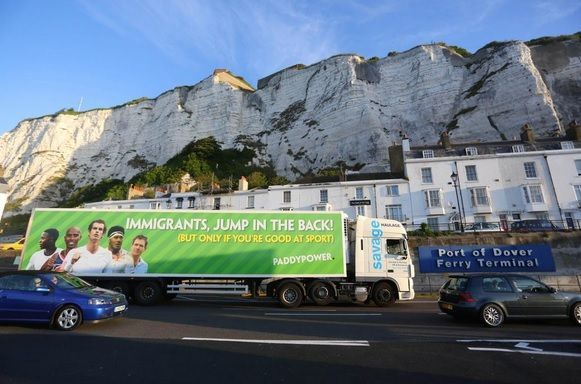 Online Sportsbook Paddy Power Immigrant Ad Banned